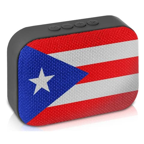 Technical Pro Rechargeable Red Portable Bluetooth Speaker with FM Radio, for Home and Travel