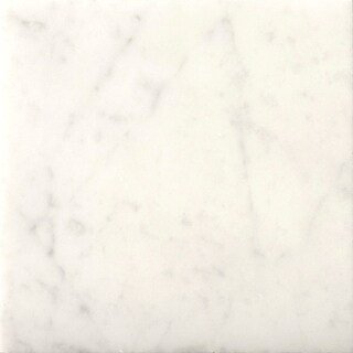 "Emser Tile M05BIAN1818  Marble - 18"" x 18"" Square Floor and Wall Tile - Polished Marble Visual - Bianco Gioia"