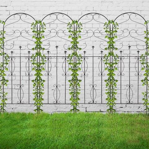 4 Pack Rustproof Iron Garden Trellis for Potted Plants Lattice