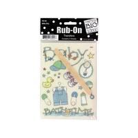 Bulk Buys CG247-72 Baby Boy Rub-On Transfers, 72 Piece