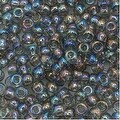 Toho Round Seed Beads 8/0 176 'Transparent Rainbow Black Diamond' 8 Gram Tube - Thumbnail 0