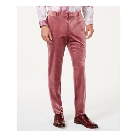 INC Mens Pink Classic Fit Non Iron Pants 32W/ 32L - 32W/ 32L