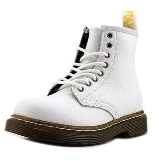 Dr. Martens Air Wair Brooklee Youth Round Toe Leather White Combat Boot|https://ak1.ostkcdn.com/images/products/is/images/direct/10990b0be7348451a294ad6b51142dd593e319cf/Dr.-Martens-Air-Wair-Brooklee-Youth-Round-Toe-Leather-White-Combat-Boot.jpg?impolicy=medium