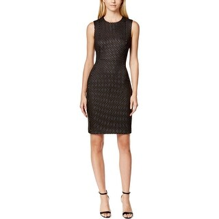Calvin Klein Womens Petites Cocktail Dress Textured Embellised