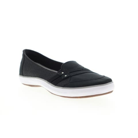 Grasshopper Sole Element Black Womens Loafers & Slip Ons Casual
