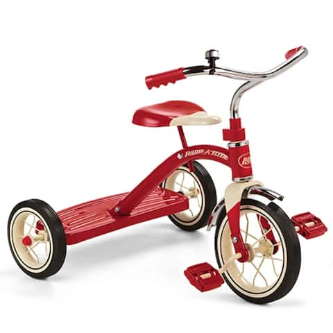 Radio Flyer 34B Classic Retro Styled Toy Tricycle, For 2 - 4 Years, Red, 10""
