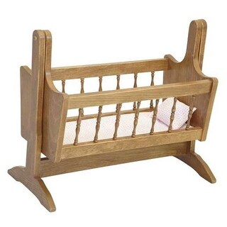 Lapps Toys & Furniture 058 H Wooden Doll Swinging Cradle, Harvest