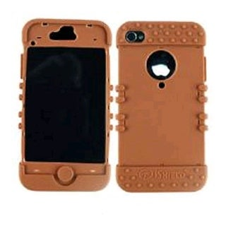 Cell Armor Rocker Series Skin Case for Apple iPhone 4G - Brown