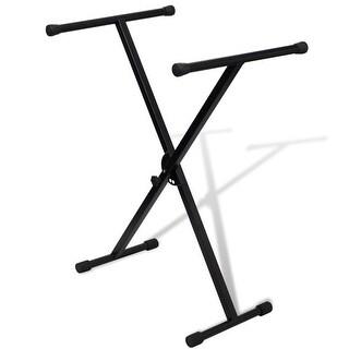 vidaXL Adjustable Single Braced Keyboard Stand X-Frame