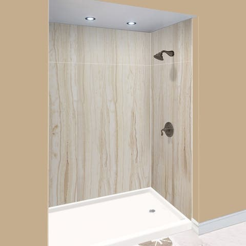 """Transolid Expressions 32-in X 60-in X 96-in Glue to Wall Shower/Walls - 60"""" x 32"""" x 96"""""""