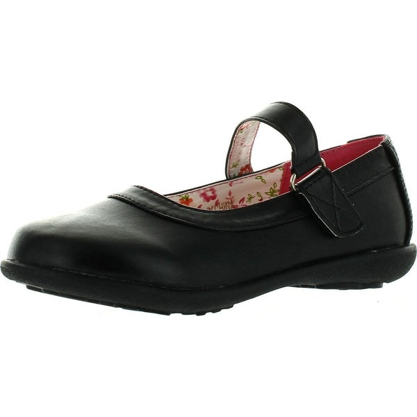 Girls School Collection Girls Clase-06 Casual School Uniform Shoes - Black