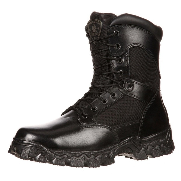 Rocky Tactical Boots Mens Alphaforce Zipper Waterproof Black