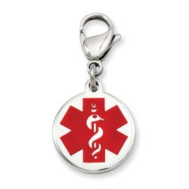 Stainless Steel Medical Jewelry Charm