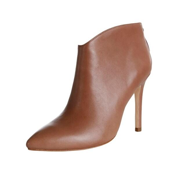 Halston Heritage Womens Karen Booties Leather Pointed Toe