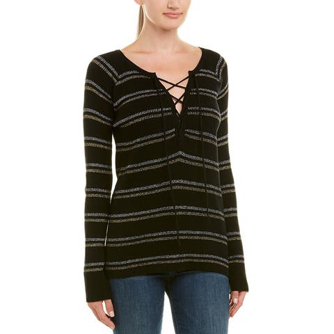 Chaser Lace-Front Sweater