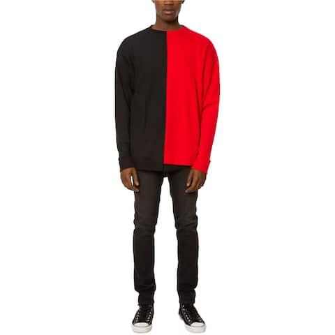 Jaywalker Mens Asymmetrical Spliced Sweatshirt