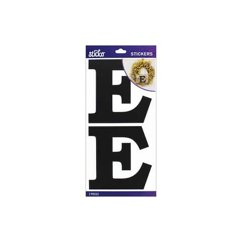 52-90415 ek sticko sticker basic black monogram e