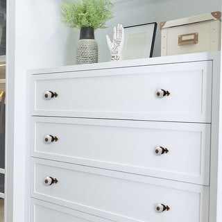 Ceramic Vintage Knobs Drawer Pull Handle Cupboard Wardrobe Dresser 4pcs White