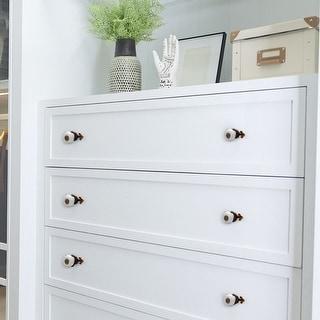 Ceramic Vintage Knobs Drawer Pull Handle Cupboard Wardrobe Dresser 8pcs White