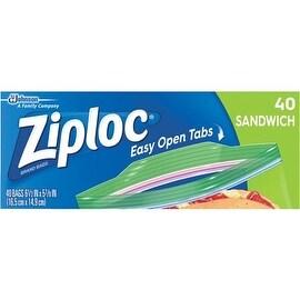 Ziploc 40Ct Ziploc Sandwich Bag