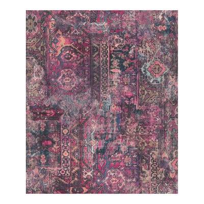 Hamadan Purple Textile Wallpaper - 20.5 x 396 x 0.025