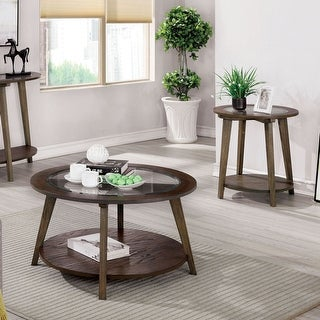 Link to Furniture of America Hula Mid-century Oak 2-piece Accent Table Set Similar Items in Living Room Furniture