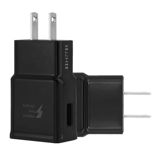 Adaptive Fast Charging Wall Adapter for Samsung Galaxy S8/S9/Note 8 - 2 Pack - 3.5 x 3 x 0.5. Opens flyout.