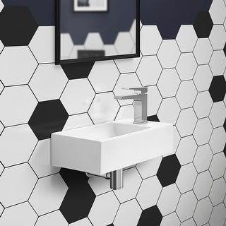 Link to Voltaire 19.5 x 10 Rectangular Ceramic Wall Hung Sink with Right Side Faucet Mount Similar Items in Sinks