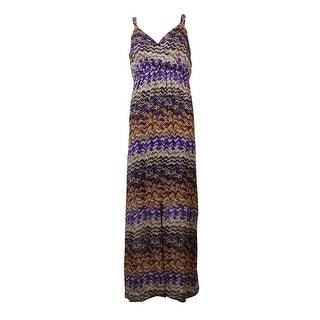Spense Women's Surplice Empire Chiffon Maxi Dress - 2p