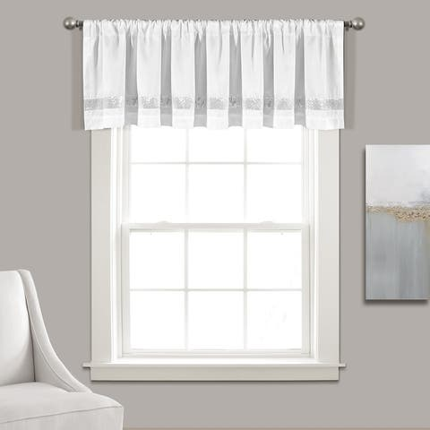 Silver Orchid Viby Faux Silk Night Sky Window Valance - 84x18