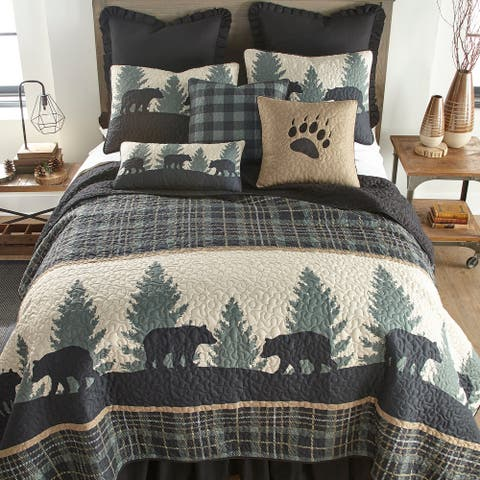 Donna Sharp Bear Walk Plaid Quilt