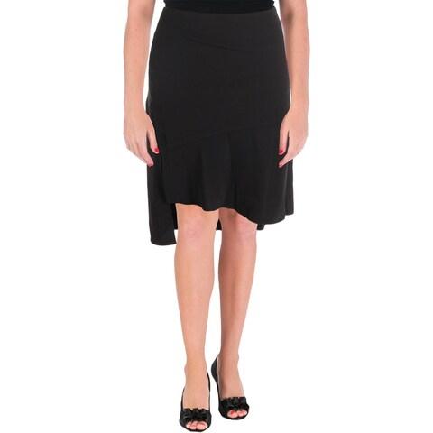 Lauren Ralph Lauren Womens Flare Skirt Asymetrical