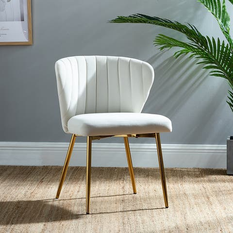 Luna Upholstered Side Chair with Tufted back