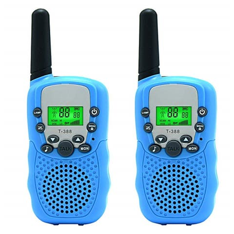 2 Pack Up to 5 Miles Walkie Talkies for Kids 22 Channels FRS/GMRS Blue