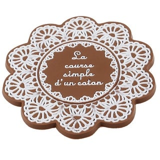 Brown Floral Shaped Silicone Cup Bottle Mug Glass Coaster Mat Pad