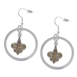 New Orleans Saints Hoop Earring