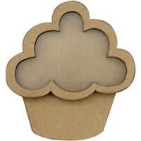 "Clear Scraps Chipboard & Acrylic Shaker Shape 3.5""X4.5""-Cupcake"