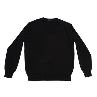 Valentino Men's V-Neck Sweater Black