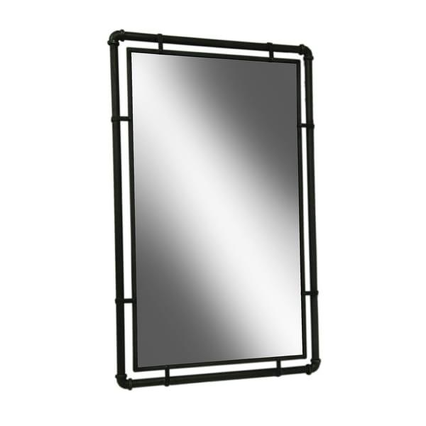 Industrial Floor Mirror: Shop Industrial Style Metal Pipe Framed Wall Mirror 33 X