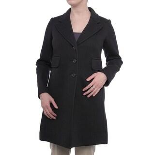 Sonia Rykiel  Button Up Coat Basic Coat Black