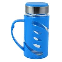 Outdoor Travelling Portable Drinking Mug Water Cup Bottle Container Blue 350ml