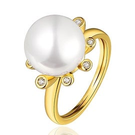 Gold Plated Ivory Center Piece Classical Ring