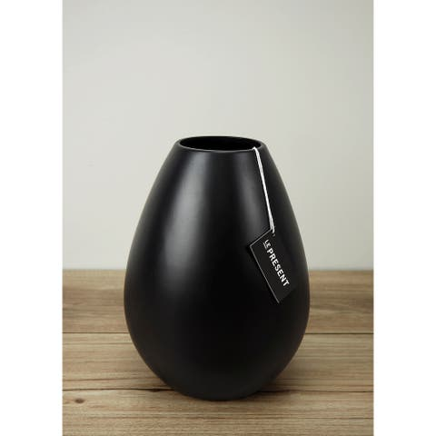 Drop Wide 8.6 Inch Ceramic Vase