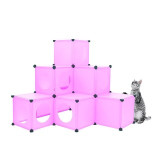 Frontpet Do It Yourself Cat House Condo DIY Cat Tower Tree Kit (Pink)