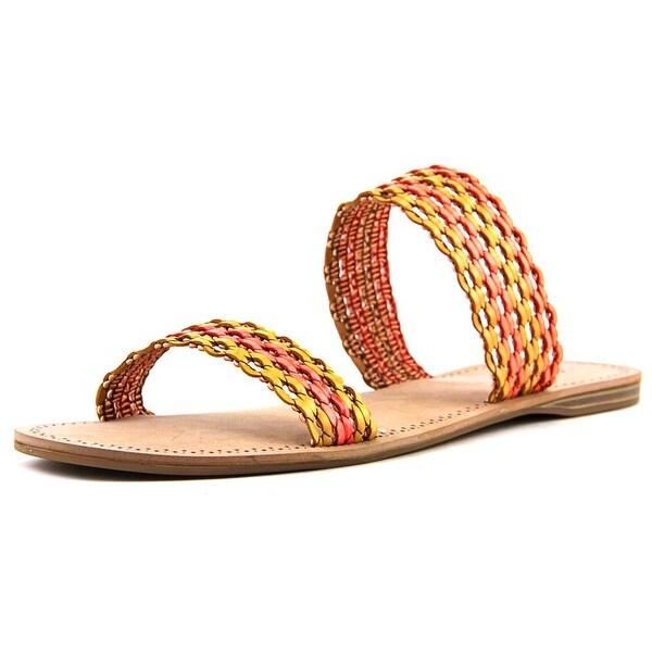 Lucky Brand Alddon Women Open Toe Synthetic Orange Slides Sandal