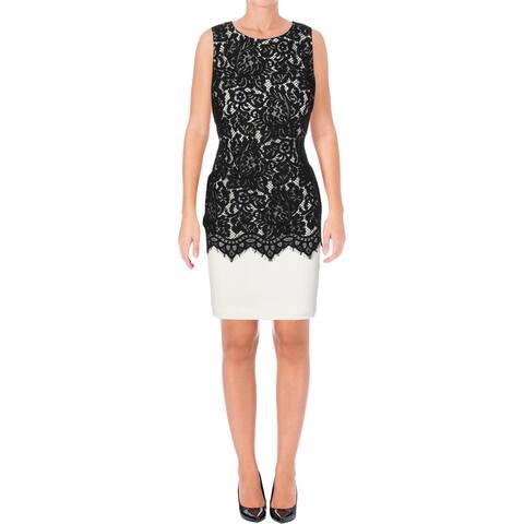 4795309446727 Lauren Ralph Lauren Womens Petites Wear to Work Dress Lace Sleeveless