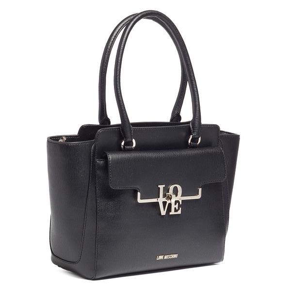Moschino JC4017 0000 Black Satchel/Shoulder Bag - 12.5-10-5