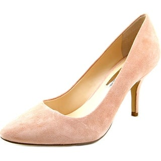 INC International Concepts Zitah Women W Pointed Toe Suede Pink Heels