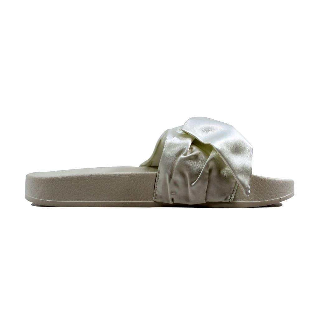 best authentic e34fc 183fa Puma Women's Bow Slide Marshmallow/Puma Silver Rihanna Fenty 365774 02