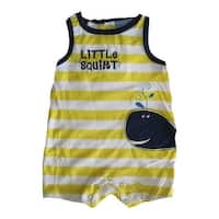 Carter's Baby Boys White Yellow Striped Little Squirt Sleeveless Bodysuit 0-9M